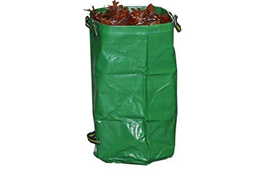 Gruener Schlauch Gartensack 120 Liter / 270 Liter *** Selbständig stehende robuste Ausführung mit Polypropylen (PP)-Gewebe 260g/m² *** Grünschnitt Laubsack Sack für Gartenabfälle (1 x 270 Liter)