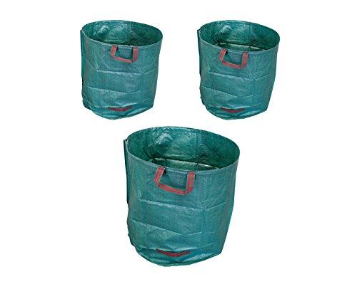 myowntrade 3X 270L Laubsack Gartensack Gewebetasche - Selbstaufstellend aus robustem Polyethylen