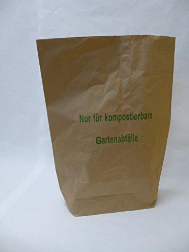 """50 St. Papier-Bioabfallsäcke 120l Format 70x95x22 cm Motiv: """"Kompostabfälle"""", 2lagig, mit extra Bodendeckblatt"""