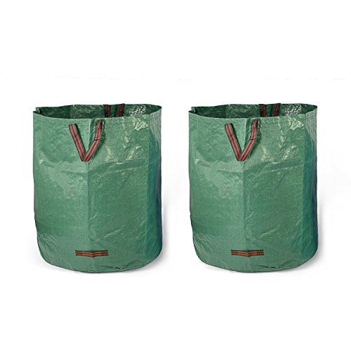 Fundwerk Garten-Abfallsack 500 L im 2er Set   Die Gartenabfallsäcke sind bestens geeignet als Laubsack und für Grünschnitt   dunkelgrün
