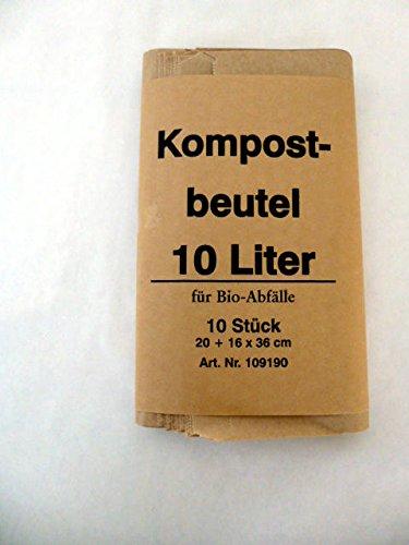 500 St. Bio Kompostbeutel 10 l, 200x160x360 mm, Kompostbeutel, Müllbeutel, Mülltüten, Biobeutel