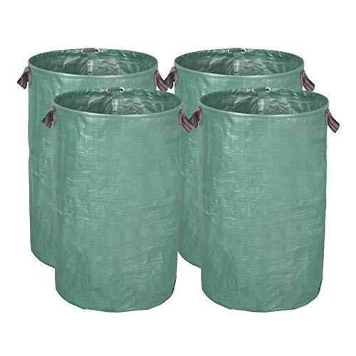 WOLTU® 4X Gartensack 120L Abfallsack Selbstaufstellend Laubsack Gartenabfälle Sack PP 150g/m² GZA1219gnQ3