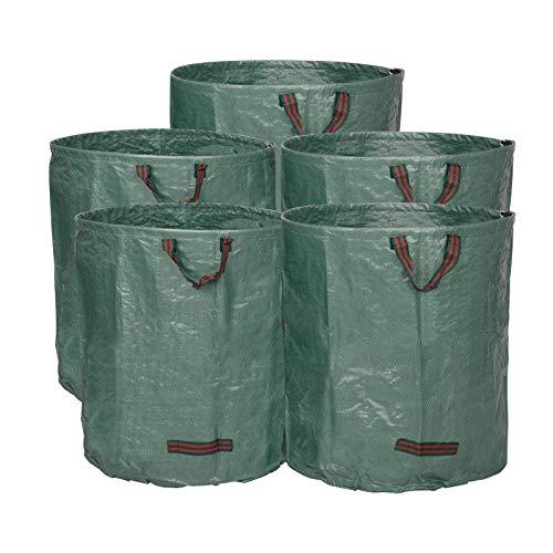 WOLTU® 5X Gartensack 272L Abfallsack Selbstaufstellend Laubsack Gartenabfälle Sack Gartentasche PP 150g/m²