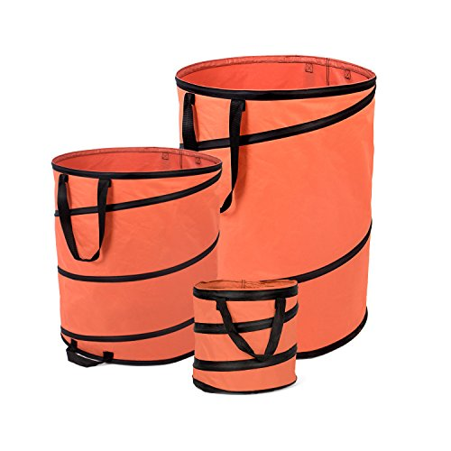 Fundwerk Pop-up Garten-Abfallsack 15L, 85L & 170L im 3er Set   Die Gartenabfallsäcke sind bestens geeignet als Laubsack und für Grünschnitt   orange