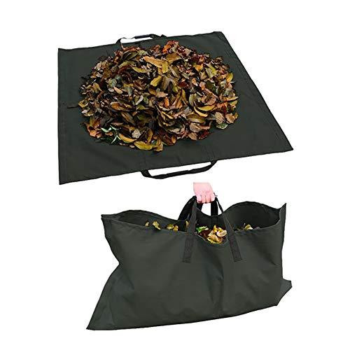 LJIANW Laubsack, Schwarz Gartentaschen, Wiederverwendbar Yard Leaf Bag Schwerlast 600D Oxford-Stoff Zum Gartenarbeit Rasen Schwimmbad Müllcontainer (Color : 4PCS, Size : 144X144cm)