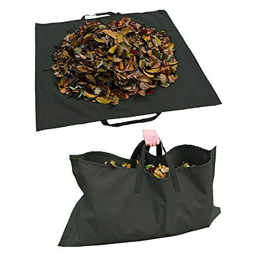 FYBlossom Garten Blätter Säcke,Gartensack Gartenabfallsack,Wiederverwendbare Schwere Laubsack,600D Oxford Stoff Wasserdicht Gartentasche (Schwarz)