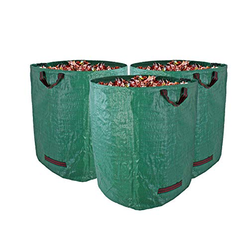 BigDean Gartenabfallsack XXL 272L im 3er Set - Extra Robustes Polypropylen-Gewebe 150g/m² - wasserdicht & reißfest - Perfekter Behälter für Grünabfall, Grüngut & Kompost - Gartensack Laubsack