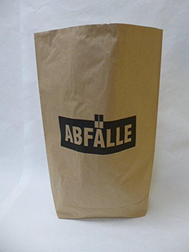 "50 St. Papier-Bioabfallsäcke 120l Format 70x95x22 cm Motiv: ""Abfälle"", 2lagig, mit extra Bodendeckblatt"