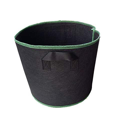 Bangxiu Gartenabfallsäcke Verdickungs-nichtgewebter schwarzer Sämlings-Taschen-Grün-faltender Garten-Eimer Pool Garden Leaf Müllsack (Größe : 10 gallons)