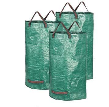 LVEDU 3Stück 120L Garten Kotbeutel Garden Aufbewahrungstasche Mülleimer hinhängen 45x 76cm