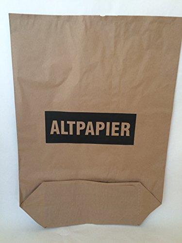 "100 St. Papier-Bioabfallsäcke 120l Format 70x95x22 cm Motiv: ""Altpapier"", 2lagig, mit extra Bodendeckblatt"