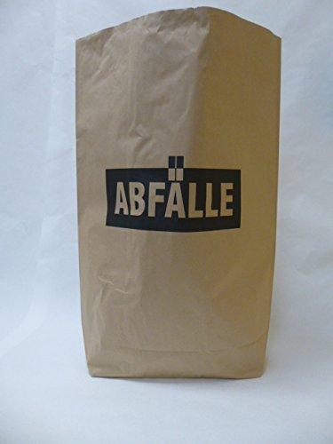 "10 St. Papier-Bioabfallsäcke 120l Format 70x95x22 cm Motiv: ""Abfälle"", 2lagig, mit extra Bodendeckblatt"
