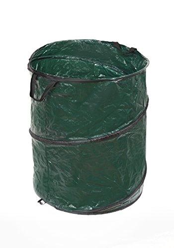 Gartenabfallsack Pop-up 120 Liter, Höhe 60 cm, Ø 50 cm, Springsack, Gartensack, Garten Bag, Laubsack, Wäschesack, Multifunktionssack, Polyethylengewebe, 2 Tragegriffe