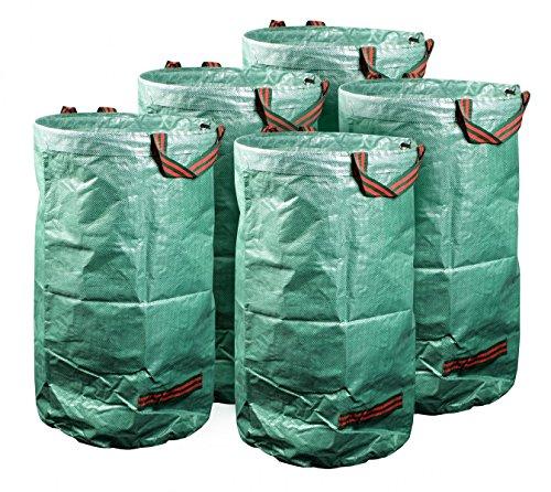mgc24® Gartensack 120l - Stabiler Gartenabfallsack aus robustem Polypropylen Gewebe 150 g/m² - 5er-Set