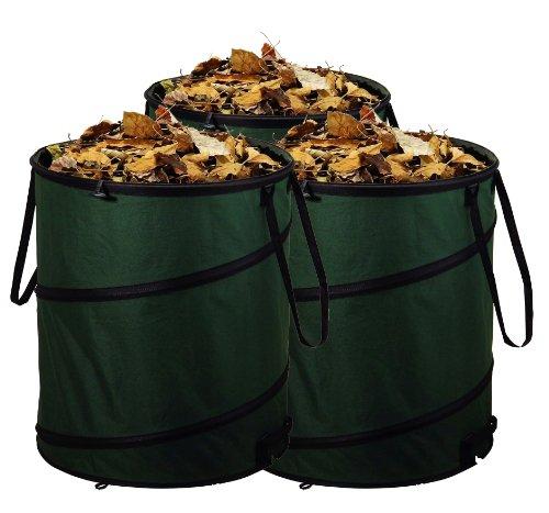 Unbekannt 3er Set Gartensack Laubsack Gartenabfallsack mit je 80 Liter Fassungsvermögen