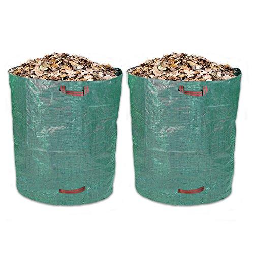 Schramm® 2 Stück Gartensäcke 500L Grün Robusten Polypropylen Gewebe PP Gartensack Garten Sack Säcke Big Bag 500 Liter Volumen 2er Pack im Set