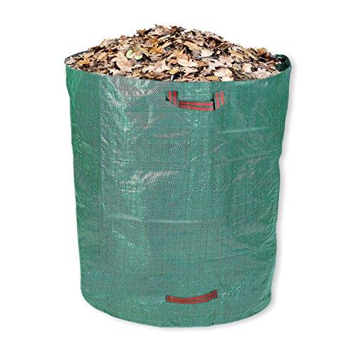 Schramm® Gartensack 500 Liter Grün Robustes Polypropylen Gewebe PP Gartensäcke Garten Sack Säcke Big Bag 500 Liter Volumen