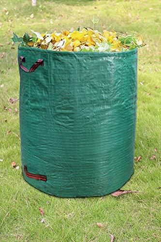 ANDYLV Gartenabfallsack 300L - Polypropylen-Gewebe 150g/m² extra robust - wasserdicht & reißfest - Perfekter Behälter für Laub, Müll, Grünabfall, Grüngut & Kompost (1)