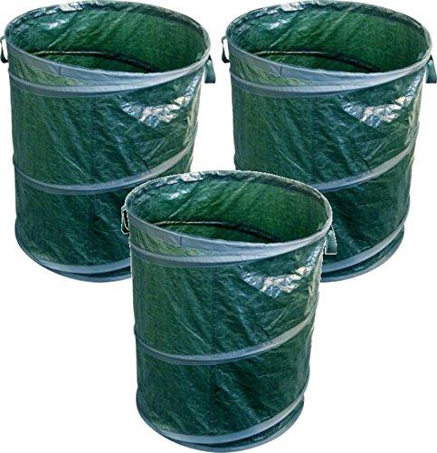 3 er Set DKB Pop up Gartensack Laubsack mit Tragegriffen ca. 120 L Abfallsack
