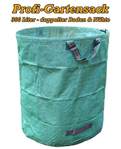WeltiesSmartTools 1er Pack XXL Laubsack 300L PROFIQUALITÄT mit verstärkten Griffnähten stabil reißfest zum transportieren oder kompostieren von Gartenabfällen