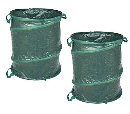 Dehner Gartenabfallsack Pop-Up Comfort, 2 er Set, je 160 l, Ø 55 cm