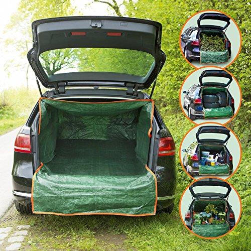 PRIMA GARDEN Kofferraum-Transportsack | Kofferaumschutz für Gartenabfälle, Bauschutt & Holz | Universalgröße M-XXL | Reißverschluss | Wasserabweisend | Belastbarkeit 45 kg
